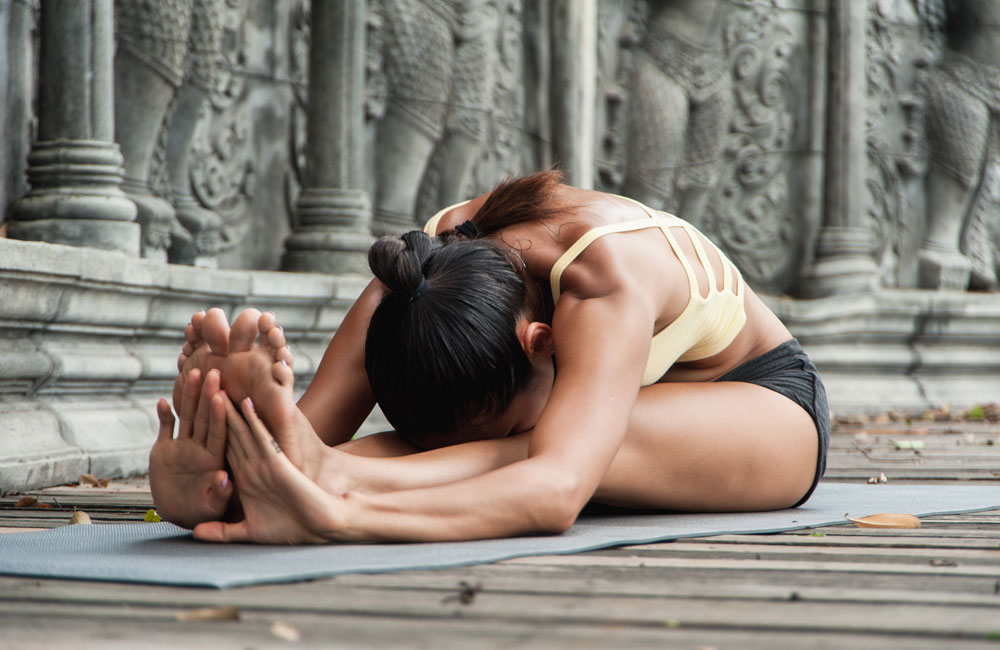 Yoga position for releasing and processing past karma