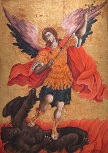 Saint Michael Battles with Evil